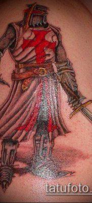 тату рыцарь №455 – достойный вариант рисунка, который удачно можно использовать для преобразования и нанесения как тату рыцарь самурай и викинги и гладиаторы