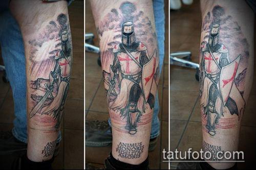 тату рыцарь №501 - интересный вариант рисунка, который успешно можно использовать для переработки и нанесения как тату рыцарь вампир
