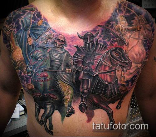 тату рыцарь №643 - прикольный вариант рисунка, который легко можно использовать для переделки и нанесения как тату рыцаря тамплиера