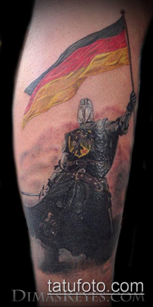тату рыцарь №751 - крутой вариант рисунка, который успешно можно использовать для преобразования и нанесения как тату рыцарь смерти