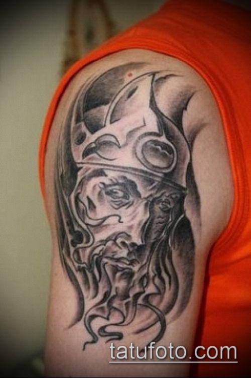 тату рыцарь №409 - классный вариант рисунка, который легко можно использовать для преобразования и нанесения как тату рыцарь с крыльями