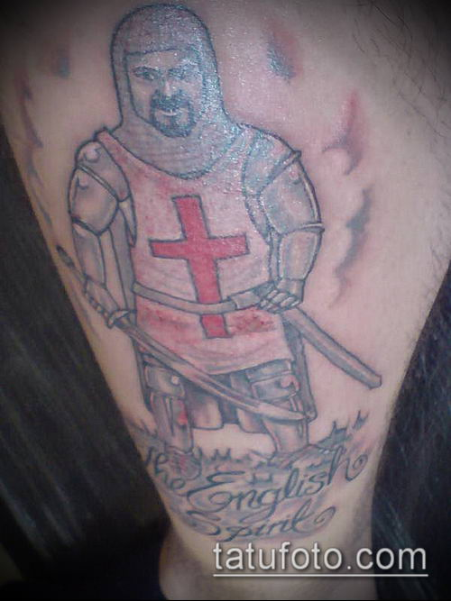 тату рыцарь №824 - эксклюзивный вариант рисунка, который легко можно использовать для преобразования и нанесения как тату рыцарь на предплечье