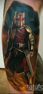 тату рыцарь №919 – крутой вариант рисунка, который легко можно использовать для преобразования и нанесения как тату рыцарь на предплечье