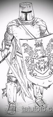 тату рыцарь №576 – крутой вариант рисунка, который легко можно использовать для переработки и нанесения как тату рыцарь ада