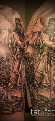 тату рыцарь №33 – эксклюзивный вариант рисунка, который успешно можно использовать для доработки и нанесения как тату рыцарь ада