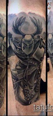 тату рыцарь №786 – классный вариант рисунка, который успешно можно использовать для доработки и нанесения как тату рыцарь без головы