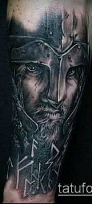 тату рыцарь №514 – достойный вариант рисунка, который удачно можно использовать для переделки и нанесения как тату рыцарь на предплечье