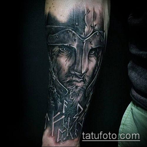 тату рыцарь №514 - достойный вариант рисунка, который удачно можно использовать для переделки и нанесения как тату рыцарь на предплечье