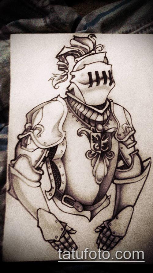 тату рыцарь №508 - достойный вариант рисунка, который легко можно использовать для переработки и нанесения как тату рыцарь голова
