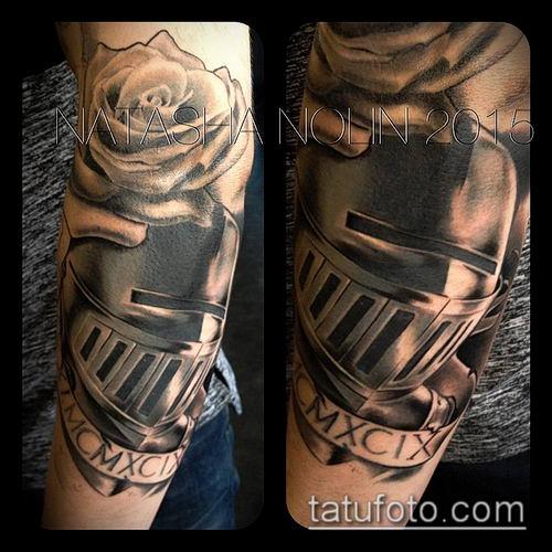 тату рыцарь №148 - эксклюзивный вариант рисунка, который удачно можно использовать для доработки и нанесения как тату в стиле рыцарей