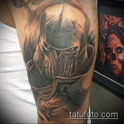 тату рыцарь №905 - достойный вариант рисунка, который легко можно использовать для преобразования и нанесения как тату рыцарь ада