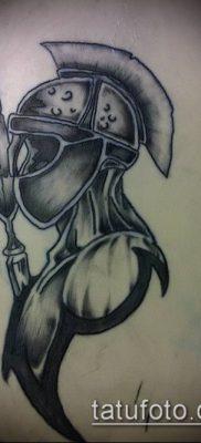 тату рыцарь №136 – достойный вариант рисунка, который легко можно использовать для доработки и нанесения как тату рыцарь смерти