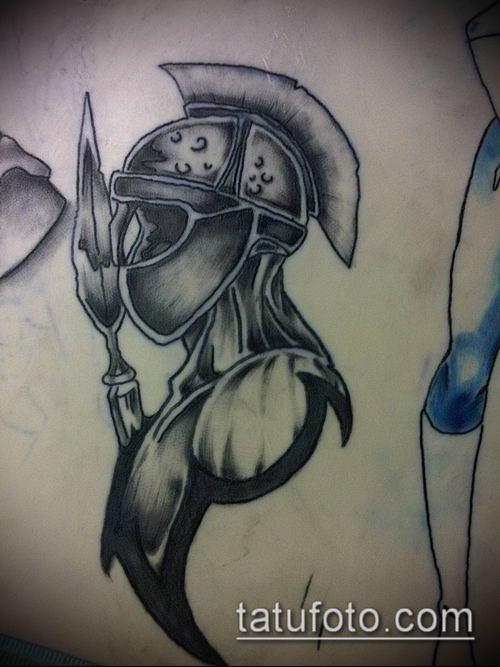 тату рыцарь №136 - достойный вариант рисунка, который легко можно использовать для доработки и нанесения как тату рыцарь смерти