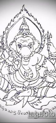 тату сак янт №804 – уникальный вариант рисунка, который хорошо можно использовать для переработки и нанесения как тату сак янт маслом