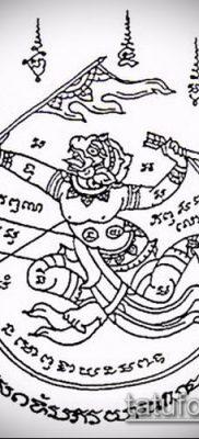 тату сак янт №711 – крутой вариант рисунка, который хорошо можно использовать для переделки и нанесения как Tatu sak yant