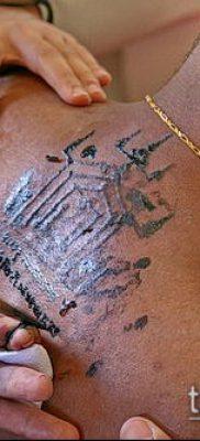 тату сак янт №957 – достойный вариант рисунка, который успешно можно использовать для преобразования и нанесения как тату сак янт мужская