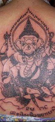 тату сак янт №49 – интересный вариант рисунка, который удачно можно использовать для переделки и нанесения как тату сак янт тибет