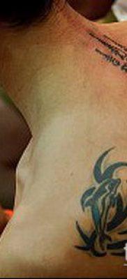 тату сак янт №17 – прикольный вариант рисунка, который легко можно использовать для доработки и нанесения как тату сак янт черепаха