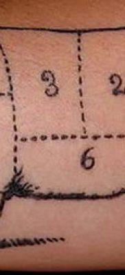 тату свинья №120 – прикольный вариант рисунка, который удачно можно использовать для переделки и нанесения как тату свинья