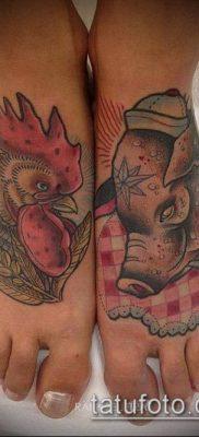 тату свинья №396 – уникальный вариант рисунка, который легко можно использовать для преобразования и нанесения как тату свинья
