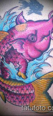 тату свинья №238 – классный вариант рисунка, который хорошо можно использовать для переработки и нанесения как тату свинья