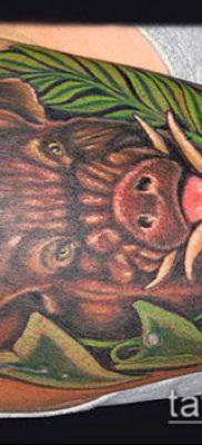 тату свинья №732 – классный вариант рисунка, который легко можно использовать для преобразования и нанесения как тату свинья