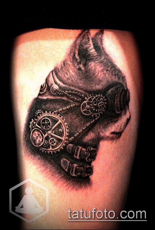 тату стимпанк №556 - уникальный вариант рисунка, который хорошо можно использовать для переделки и нанесения как тату стимпанк