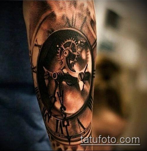 тату стимпанк №864 - интересный вариант рисунка, который успешно можно использовать для доработки и нанесения как тату стимпанк предплечье