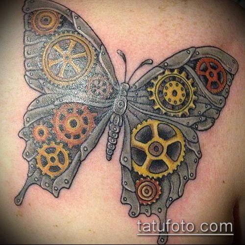 тату стимпанк №860 - прикольный вариант рисунка, который хорошо можно использовать для переработки и нанесения как тату стимпанк позвоночник