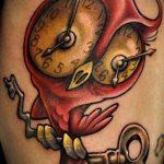 тату стимпанк №214 - уникальный вариант рисунка, который хорошо можно использовать для переработки и нанесения как тату стимпанк