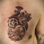 тату стимпанк №895 - достойный вариант рисунка, который хорошо можно использовать для преобразования и нанесения как тату стимпанк на всю руку
