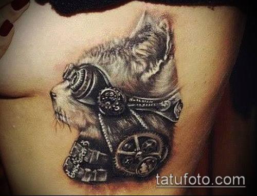 тату стимпанк №647 - прикольный вариант рисунка, который удачно можно использовать для переработки и нанесения как тату стимпанк на плече