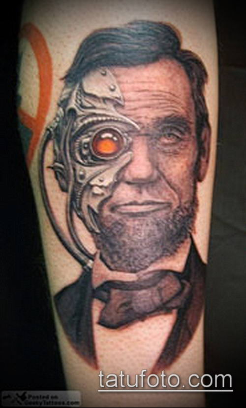 тату стимпанк №244 - достойный вариант рисунка, который успешно можно использовать для доработки и нанесения как тату стимпанк на всю руку