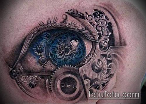 тату стимпанк №593 - крутой вариант рисунка, который успешно можно использовать для преобразования и нанесения как тату стимпанк