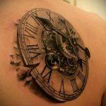 тату стимпанк №146 - эксклюзивный вариант рисунка, который легко можно использовать для переделки и нанесения как тату стимпанк рукав
