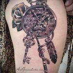 тату стимпанк №539 - достойный вариант рисунка, который успешно можно использовать для переделки и нанесения как тату стимпанк плечо