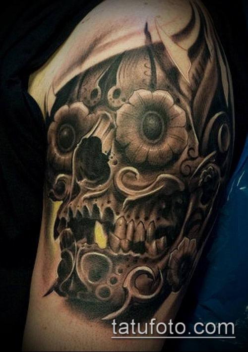 тату стимпанк №484 - крутой вариант рисунка, который удачно можно использовать для преобразования и нанесения как тату стимпанк позвоночник
