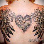 тату стимпанк №291 - крутой вариант рисунка, который удачно можно использовать для преобразования и нанесения как тату стимпанк позвоночник