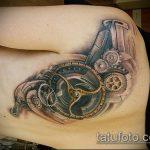 тату стимпанк №969 - интересный вариант рисунка, который успешно можно использовать для переделки и нанесения как тату стимпанк на плече