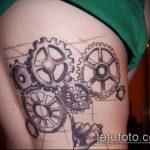 тату стимпанк №512 - крутой вариант рисунка, который хорошо можно использовать для преобразования и нанесения как steampunk tattoo