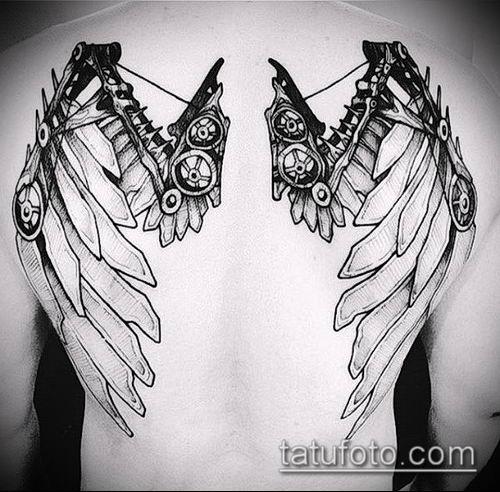 тату стимпанк №674 - эксклюзивный вариант рисунка, который удачно можно использовать для преобразования и нанесения как тату стимпанк рукав