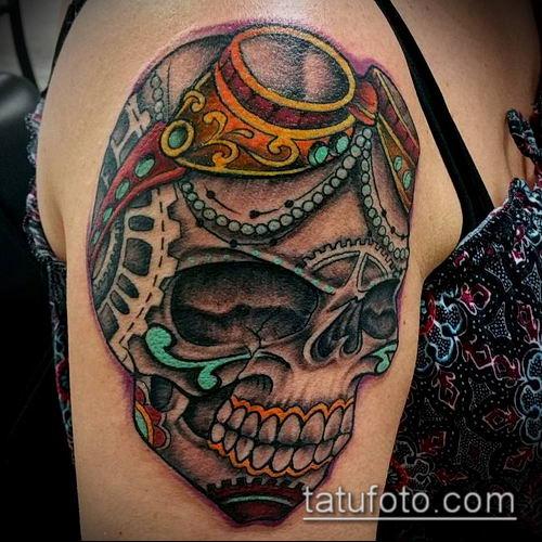 тату стимпанк №873 - достойный вариант рисунка, который успешно можно использовать для доработки и нанесения как тату стимпанк