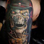 тату стимпанк №557 - классный вариант рисунка, который хорошо можно использовать для переделки и нанесения как steampunk tattoo