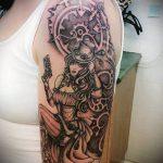 тату стимпанк №470 - достойный вариант рисунка, который легко можно использовать для переделки и нанесения как тату стимпанк на всю руку