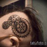 тату стимпанк №942 - эксклюзивный вариант рисунка, который легко можно использовать для переделки и нанесения как тату стимпанк на руке