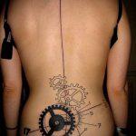 тату стимпанк №461 - интересный вариант рисунка, который хорошо можно использовать для переработки и нанесения как тату стимпанк рукав