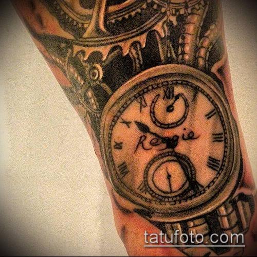 тату стимпанк №385 - крутой вариант рисунка, который удачно можно использовать для переработки и нанесения как тату стимпанк на предплечье