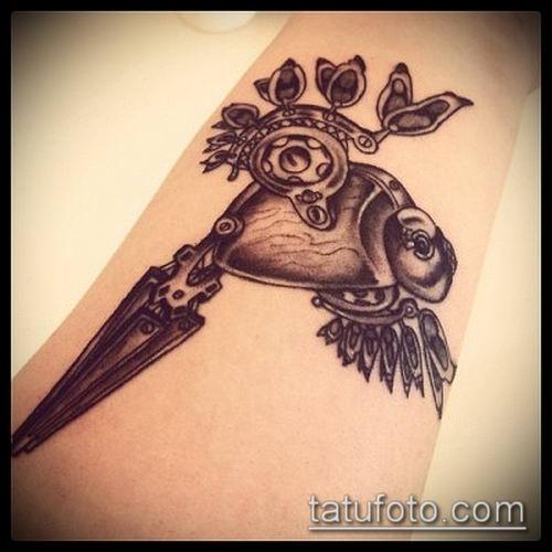 тату стимпанк №43 - достойный вариант рисунка, который хорошо можно использовать для переработки и нанесения как тату стимпанк запястье