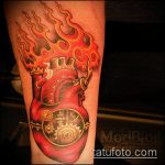 тату стимпанк №286 - интересный вариант рисунка, который хорошо можно использовать для преобразования и нанесения как тату стимпанк рукав