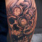 тату стимпанк №910 - классный вариант рисунка, который хорошо можно использовать для переработки и нанесения как steampunk tattoo